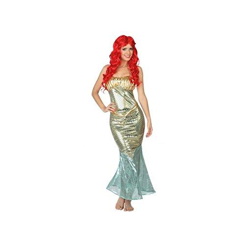 Atosa-26677 Disfraz Sirena, color plateado, XL (26677)
