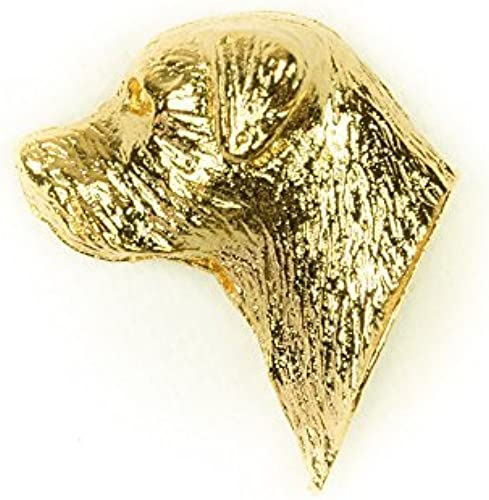 BORDER TERRIER Made in U.K Artistic Style Dog Clutch Lapel Pin Collection 22ct Gold Plated by DOG ARTS JP