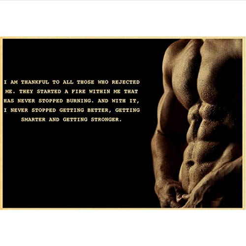 yitiantulong Impresión En Lienzo Arnold Schwarzenegger Poster Bodybuilding Fitness Gym Workout Poster Pintura Arte De La Pared para La Decoración De La Sala De Estar R-698 (50X90Cm) Sin Marco