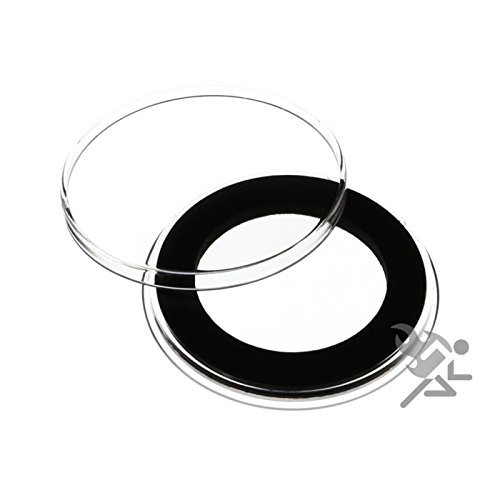 (10) Air-tite 33mm Black Ring Coin Holder Capsules for 1oz Australian Platinum Platypus and 1/2oz Silver Libertad
