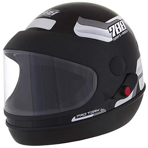 Pro Tork Capacete Sport Moto 788 58 Preto/Branco