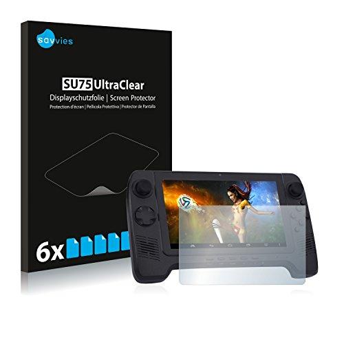 Savvies 6X Schutzfolie kompatibel mit GPD G7 Gamepad Displayschutz-Folie Ultra-transparent