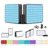 VIJIM 316 RGB LED Light On Camera Light, Camera/Camcorder Light, Rechargeable Video Light w 2600k-12000k Color Range, Full Color LED Light Panel for Photography Vlogging Filming Shooting etc