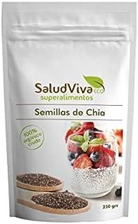 Semillas de Chia Eco 250 g, Salud Viva: Amazon.es: Hogar