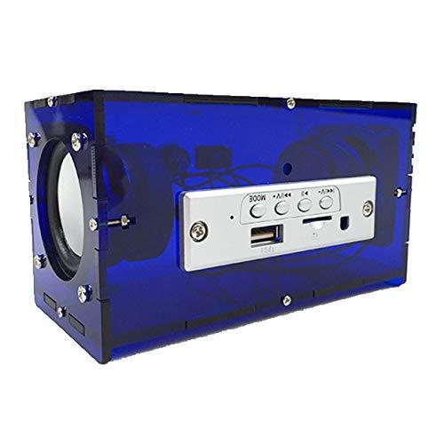 ASHATA Mode Bluetooth luidspreker DIY Kit dual luidspreker MP3 muziek Pack stereo geluid 3 Watt mini versterker met afstandsbediening voor thuis/kantoor/feesten, blauw