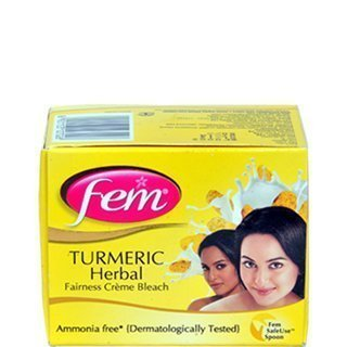 Fem Tumeric Herbal Cream Bleach Ammonia Free Glow Natural Fairness 24g by FEM