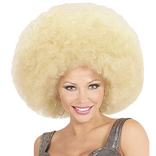 Widmann 04674 Afro pruik, uniseks, blond, één maat