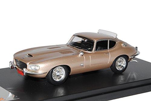 PremiumX Jaguar E-Type Loewy Coupe Gold Champagne Beige 1966 1/43 Modell Auto
