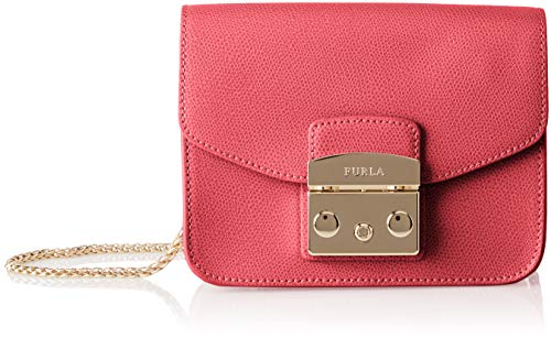 Furla Damen Metropolis Mini Crossbody Business Tasche, Rot (Ruby), 8x12x17 cm