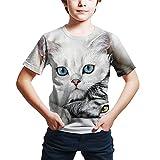 Camiseta De Verano para Niños con Estampado 3D De Animales De Gato Y Perro Camisetas De Moda De Manga Corta para Niños Y Niñas Picture color14 7T