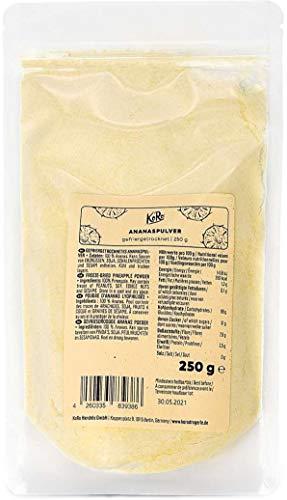 KoRo - Gefriergetrocknetes Ananaspulver 250 g - Perfekt für Quark oder Smoothies aus 100 % Frucht