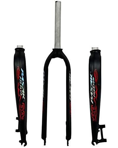 WXX 26 Pulgadas de Bicicletas /27.5/29 Duro Tenedor de Bicicletas de montaña 700C Tubo Recto de aleación de Aluminio Frontal Tenedor del Freno de Disco Puro para la Bicicleta,Black and Red,26 Inch
