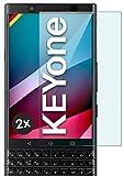 moex Panzerglas kompatibel mit BlackBerry KEYone - Schutzfolie aus Glas, bruchsichere Bildschirmschutz Folie, Crystal Clear Panzerglasfolie, 2X Stück