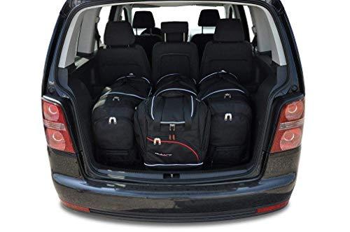 KJUST Dedizierte Reisetaschen 4 STK Set kompatibel mit VW TOURAN I 2003-2010
