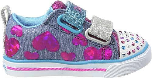 Skechers Mädchen Sparkle Lite-Flutter Fab Sneaker, Mehrfarbig (Denim/Multi Dmlt), 31 EU
