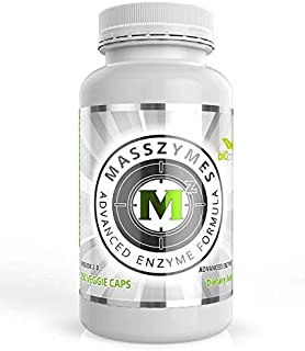 MassZymes - Digestive Enzyme Supplement - with Proteolytic Enzymes - Provides Bloating, Constipation, and Gas Relief - Con...