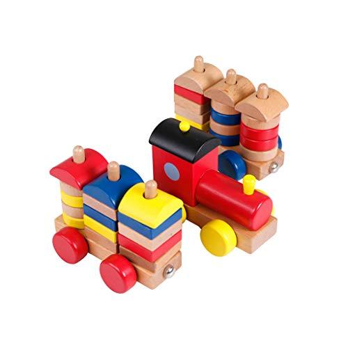 LINGLING-JOUETS Jouets pour Enfants Blocs de Construction de Trains Multicolores Jonction de Cadeaux de 2 Ans et Plus Puzzle (Couleur : Multicolore)
