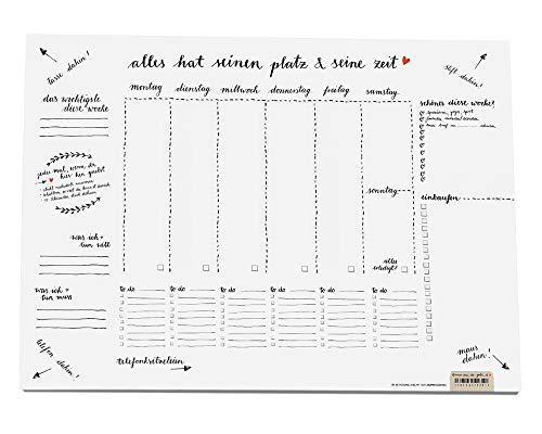 Eine der Guten Schreibtischunterlage A3 aus Papier zum Abreißen, schwarz weiß Design für umweltbewusste Listenliebhaber, 30 x 42 cm, 25 Blatt Schreibunterlage Abreißblock, Recyclingpapier