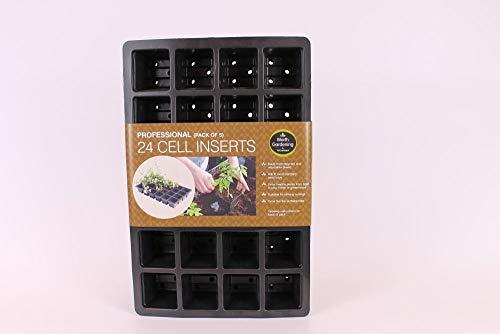 Professional de 24 emplacements Lot de 5 Inserts pour plantes de jardin