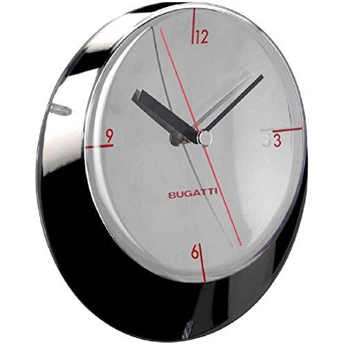 Bugatti Glamour Reloj de Pared (33 cm de diámetro Cromo)