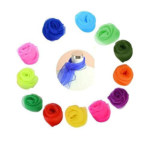 Heatigo Jongliertücher 12 Stück für Sensorisches Werkzeug, Tanzen, Jonglieren, 60 x 60cm