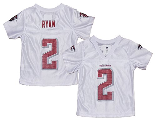 Matt Ryan Atlanta Falcons #2 Toddler White Girls Dazzle Player Jersey (Toddler 2T)