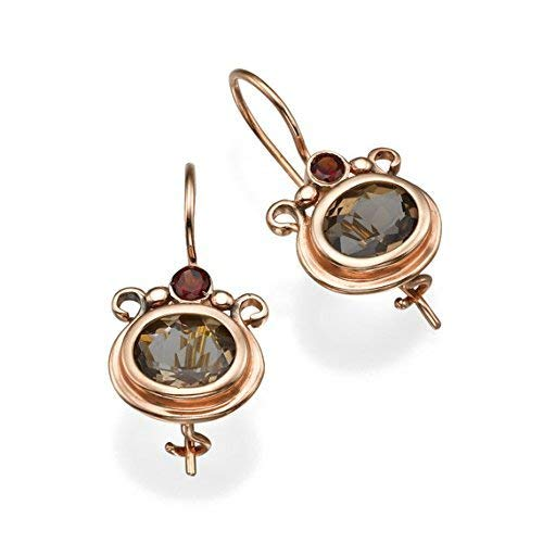 Garnet Earrings Popular Our shop OFFers the best service shop is the lowest price challenge Smoky Topaz Rose Gold 14k