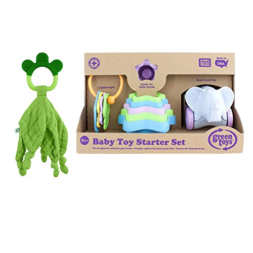 Great Price! Green Toys Baby Toy Starter Set (First Keys, Stacking Cups, Elephant). Green Sprouts Mu...