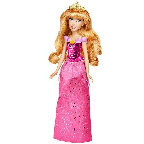 Disney Princess F0899 Disney Prinzessin Schimmerglanz Aurora Puppe, Modepuppe mit Rock und Accessoires, für Kinder ab 3 Jahren