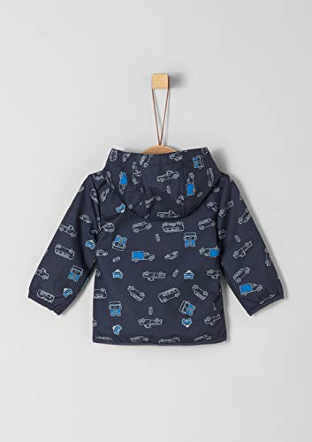 s.Oliver Baby-Jungen 59.902.51.5029 Jacke, Blau (Dark Blue AOP 58a8), (Herstellergröße: 68)