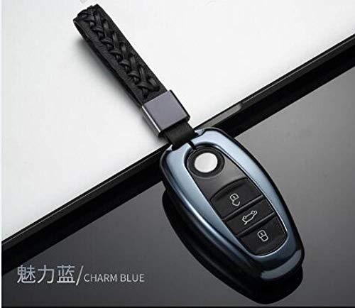NZGMA Aluminiumkoffer für Autoschlüssel für VW Volkswagen neu Touareg Schlüsseletui für Schlüssel Vw Portemonnaie, 06