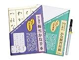 酒井産業 写し書き仮名書道入門セット墨筆「極」 お手本付き 練習 きれいな字 書き順 勉強 趣味