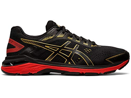 ASICS Men's GT-2000 7 Running Shoes, 12M, Black/Rich Gold