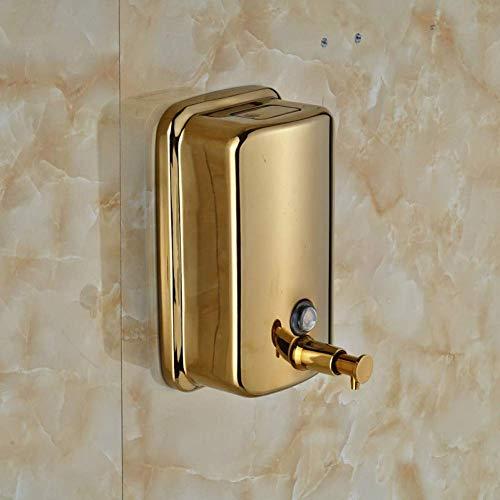 YASE-king Wand-Seifenspender vergolden 800ml Badezimmer Küche Flüssigseifenspender-Pumpe der Wand befestigten Edelstahl Bambus Seifenspender