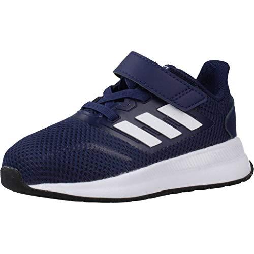 adidas Runfalcon I, Zapatillas de Gimnasio Bebé-Niños, Azul Oscuro/Blanco Blanco/Negro Núcleo, 22 EU