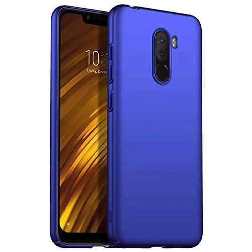 NiaCoCo Compatible con Funda Xiaomi Pocophone F1 Silicona para PC A Prueba de choques Ultra Delgado Anti-rasguños Estuche Protector para Xiaomi Pocophone F1-Azul