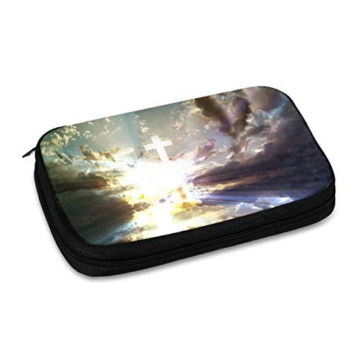 Electronics Organizer A Transparent Cross Jelly Comb Electronic Accessories Cable Organizer Bag Travel Cable Storage Bag for Cables, Laptop Charger, Tablet (Up to 9.4'')
