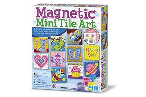 4M 4563 Magnetic Mini Tile Art - DIY Paint Arts & Crafts Magnet Kit For Kids -...