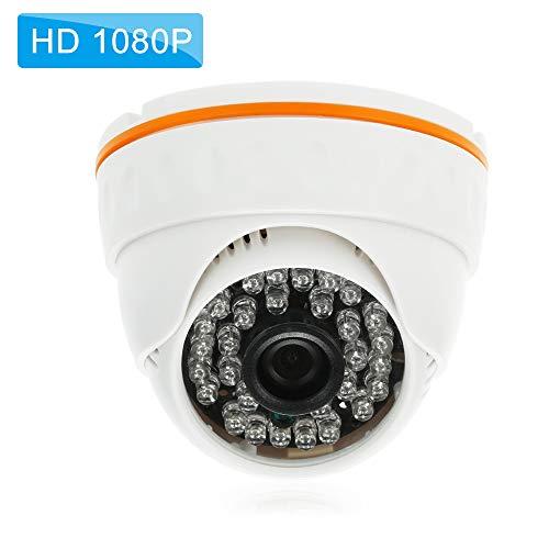 Festnight 1080P HD Cámara Domo IP 2.0MP 3.6mm 36PCS Lámparas IR H.265 / H.264 / H.265 + Opcional P2P Onvif Vista Nocturna IR-Corte Detección de Movimiento Teléfono APLICACIÓN Control Remoto
