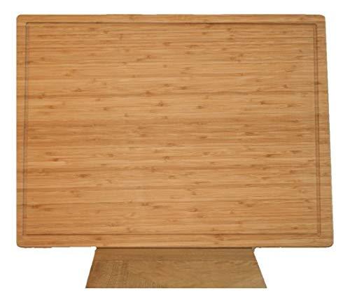 Bamdura Bambus Schneidebrett | Extra groß 61 x 45,5 x 2 cm | Hygienisch & pflegeleicht | Abwaschbares Schneidebrett | Natürliches & Nachhaltiges Küchenbrett ohne Ständer