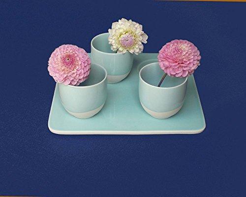 Fleur de soleil ~ Nappe Unis Bleu Marine Coton Enduit 160x240