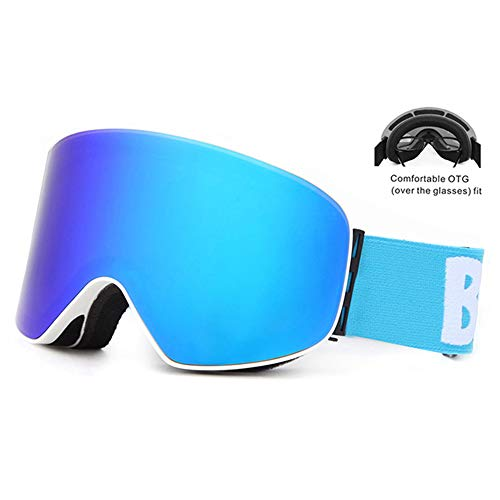 HUATXING Unisex Sphärische Anti-Fog Linsen Snowboard Skibrille Klettern Ski Brillen,K2