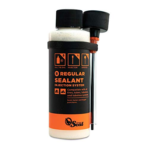 Orange Seal Cycling Tubeless Tire Sealant with Injection System (8 oz)