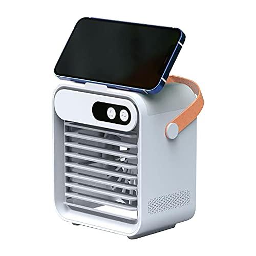 LurcarLE Mobile Klimageräte,4 in 1 Persönlicher Verdunstungsluftkühler, Luftreiniger & Luftbefeuchter mit Kühlem Nebel für Zuhause, Büro, Raum (Weiß)