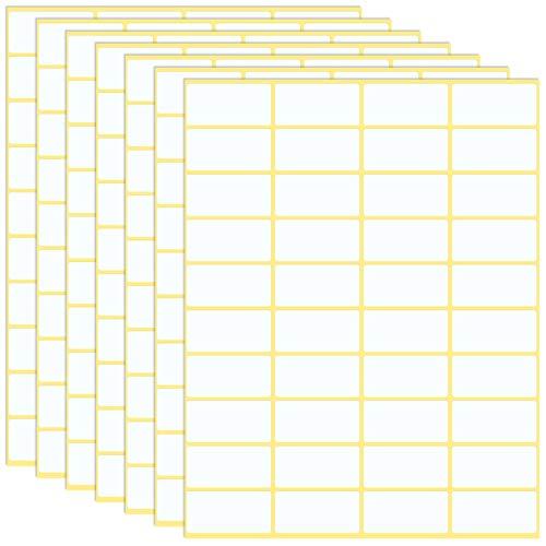 GOTH Perhk 600 Stück Etiketten Selbstklebend, 38 x 19 mm Universal Klebeetiketten Adressetiketten Haushaltsetiketten Tiefkühletiketten für Büro Küche und Marmelade