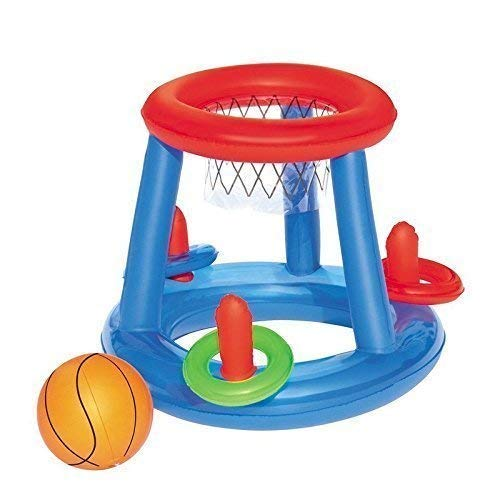 Lively Moments Aufblasbares Basketballspiel Set / Wurfspiel / schwimmendes Poolspiel / Spielzeug ca. 61 cm