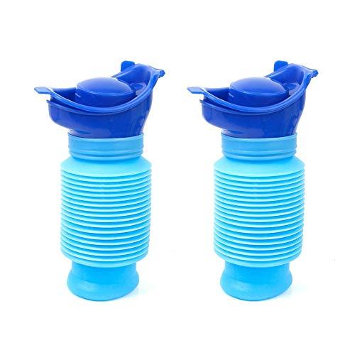 Mu Mianhua - 2 paquetes de orinal de emergencia para viaje retráctil personal, botella portátil para orinal portátil para adultos (750 ml) ⭐