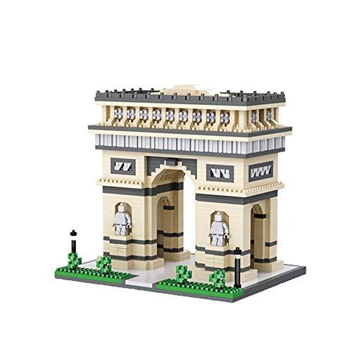JMG Ladrillos 2100PCS Bloques Set Arquitectura Señales Francia Arco del Triunfo Palace Model Building Blocks Niños Juguetes Educativos 3D