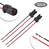 TOMALL T10 194 Socket Lights Pre-Wired Wiring Harness Female Socket for LED Bulbs Replacement 2Pcs