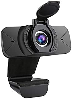Webcam HD 1080p Web Camera, USB PC Computer Webcam with Microphone, Laptop Desktop Full HD Camera Video Webcam 110-Degree ...